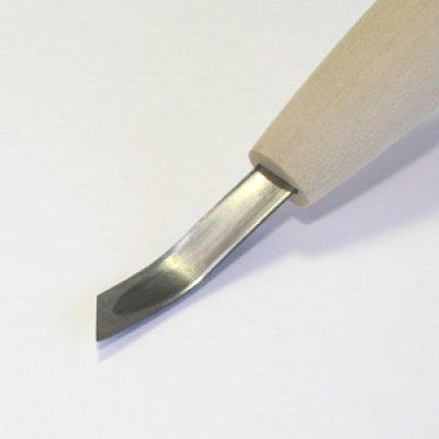 画像1: 彫刻刀安来鋼super 印刀曲左型6mm