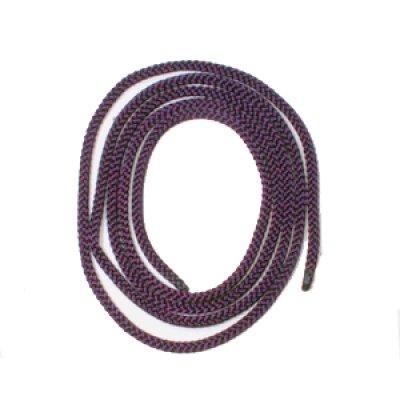 画像1: ループタイ 古代紫 組紐太 (人絹)