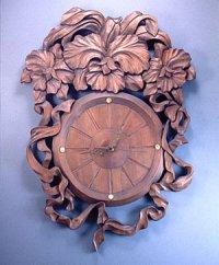 針時計 カトレアとリボン