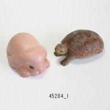 他の写真1: ミニ干支 ウサギとカメ