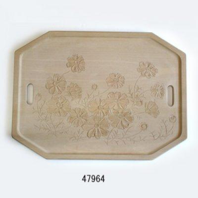 画像2: 八角さん盆 400×300×20mm朴材
