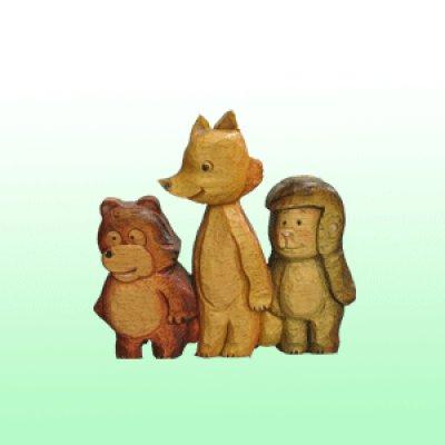 画像1: 森の仲間たち シナ材