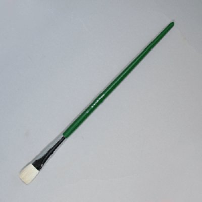 画像1: 平筆(羊毛)木軸 5号 15mm