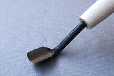 画像1: つきのみ小道具朴柄 丸曲型9mm