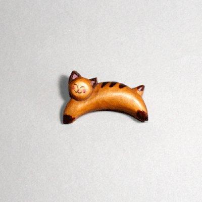 画像1: はねネコ ピン付