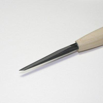 画像1: 彫刻刀安来鋼super クリ刀右6mm