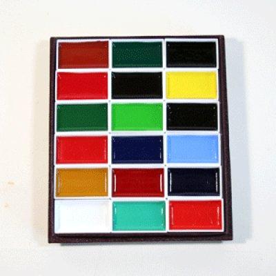 画像1: 顔彩18色セット