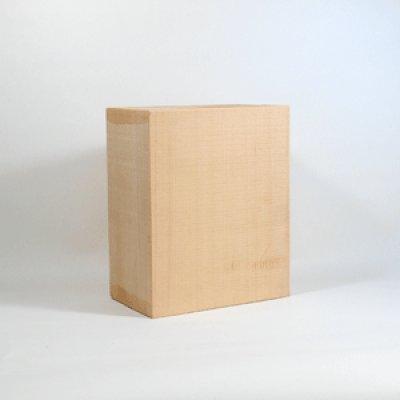 画像1: 能面材6号 24×20×12cm 木曾桧材柾目材