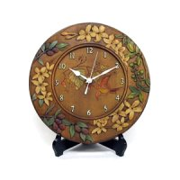 針時計 オリーブの花 朴材