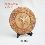 画像: 時季の流れ パンジー 時計付