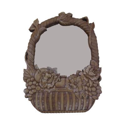 画像2: 掛け鏡 フルーツにバラ バスケット