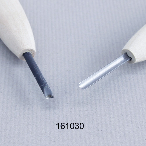 画像1: 彫刻刀安来鋼 丸型3mm 別誂R
