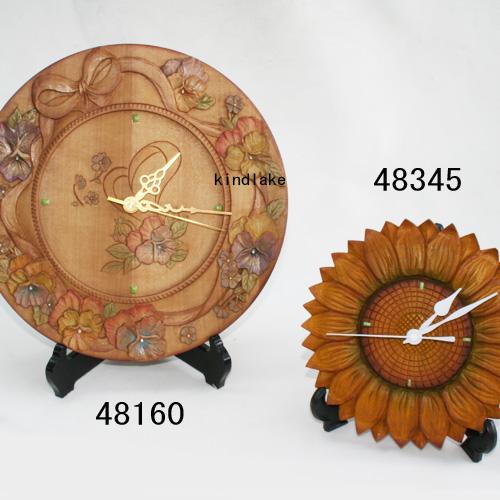 画像2: 時季の流れ パンジー 時計付
